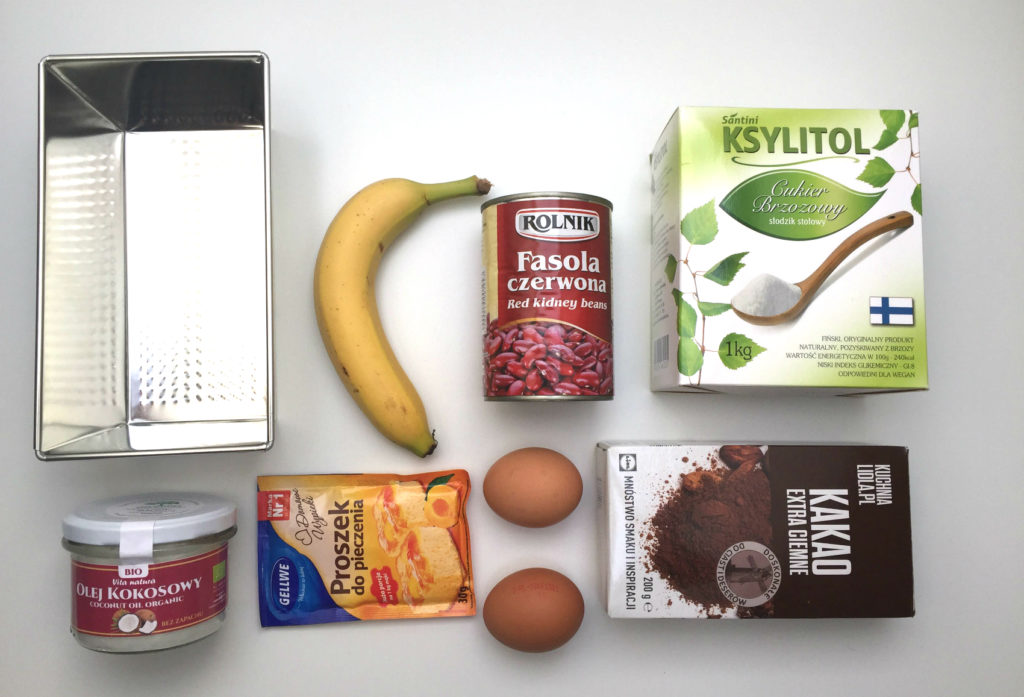 brownie z fasoli - etap 1 przygotowanie produktów